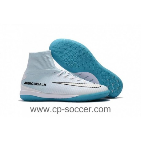 2017 Nike MercurialX Proximo II CR7 Vitorias IC Soccer Cleats - Platine Pure / Or Métal