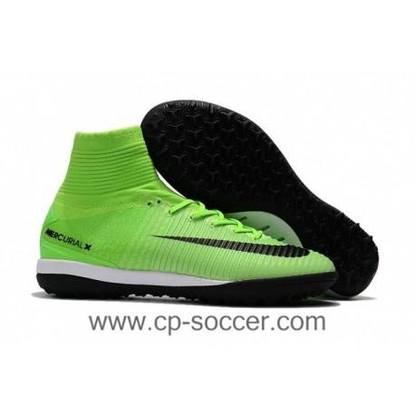 2017 Nike MercurialX Proximo II DF TF Soccer Cleats - Vert électrique / Noir / Ghost Vert