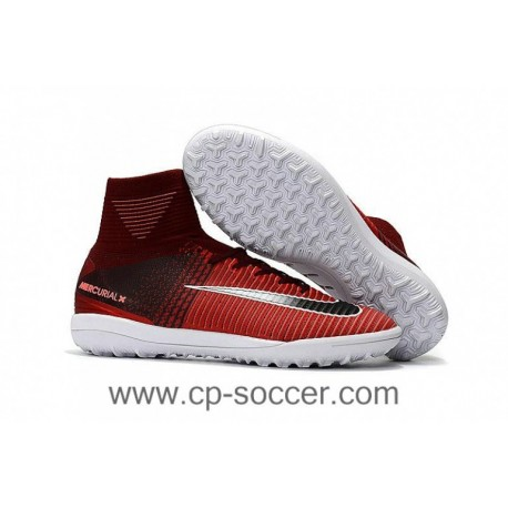 2017 Nike MercurialX Proximo II TF Soccer Cleats - Marron / Rouge / Noir / Blanc