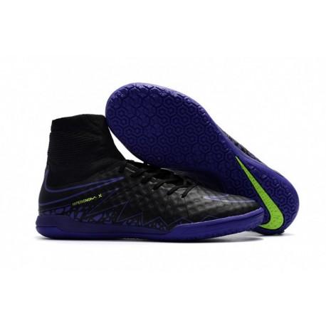 Nouveau 2017 Nike HypervenomX Proximo IC Bottes de football Noir / Paramount Bleu / Volt / Dark Grey