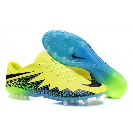 Nike Hypervenom Phinish FG Soccer Cleats Jaune / Noir / Bleu
