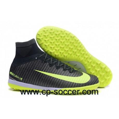 Nike MercurialX Proximo II CR7 TF à main léger en crampons Algues / Volt / Hasta / Blanc