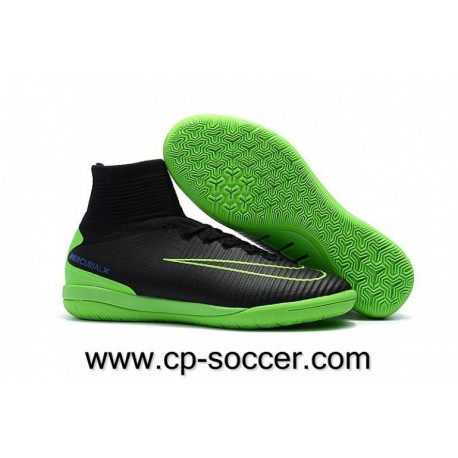 Chaussures de football Nike MercurialX Proximo II IC Noir / Électrique Vert / Paramount Bleu