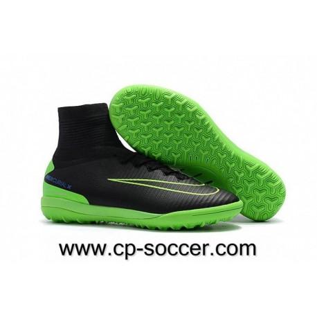 Nike MercurialX Proximo II TF Soccer Cleats Noir / Électrique Vert / Paramount Bleu