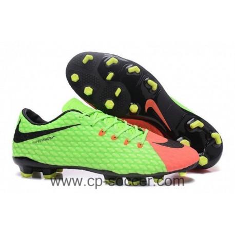 2017 Nike Hypervenom Phelon III FG Soccer Cleats - Électrique Vert / Noir / Hyper Orange