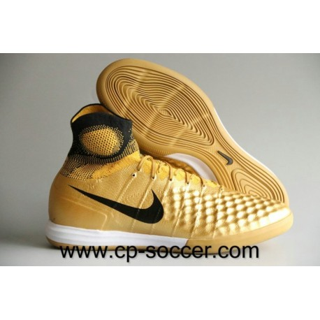 Chaussures de soccer Nike MagistaX Proximo II IC Or / Noir