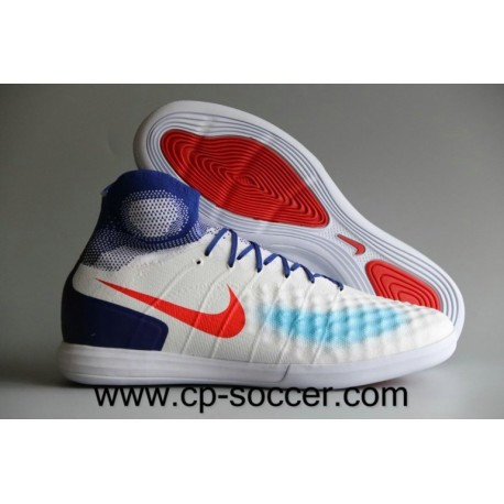 Nike Women's MagistaX Proximo II IC Olympics Chaussures de football Blanc / Bright Crimson / Racer Bleu