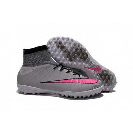Bottes de football Nike MercurialX Proximo Street TF Wolf Grey Hyper Rose Noir Noir