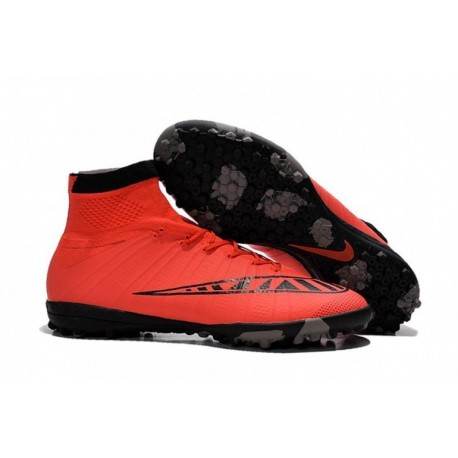 Nike MercurialX Proximo Street TF Bottes de football Bright Crimson Bright Crimson Noir Bleu