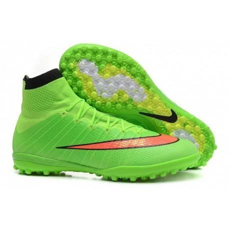 Bottes de football Nike MercurialX Proximo Street TF Vert Hyper Punch Noir