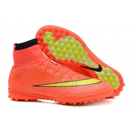 Bottes de football Nike MercurialX Proximo Street TF Hyper Punch Or Noir