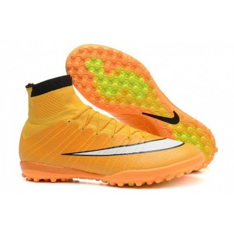 Bottes de football Nike MercurialX Proximo Street TF Laser Orange Blanc Noir
