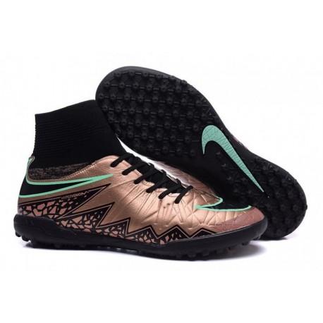 Bottes de football Nike HypervenomX Proximo Street TF Or Noir