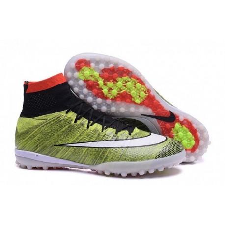 Bottes de football Nike MercurialX Proximo Street TF Multi couleur Noir Blanc Rouge