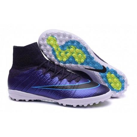 Nike MercurialX Proximo Street TF Football Bottes Squadron Bleu Noir Volt