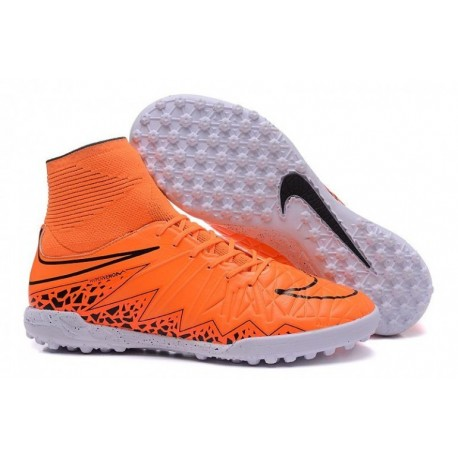 Bottes de football Nike HypervenomX Proximo TF Orange Noir