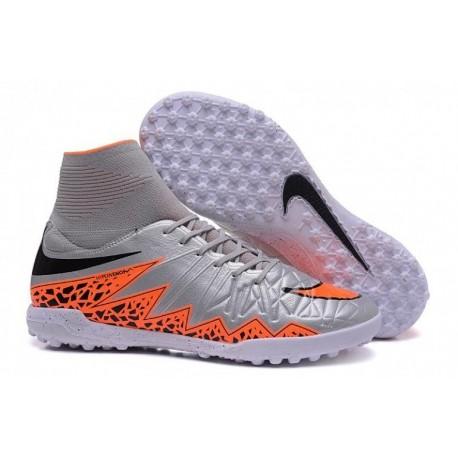 Bottes de football Nike HypervenomX Proximo TF Wolf Grey Total Orange Noir