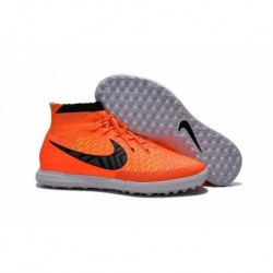 Bottes de football Nike MagistaX Proximo Street TF Total Orange Orange Violet Persan Orange Blanc