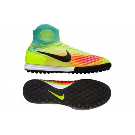 Nike MagistaX Proximo II TF Volt-Rose Blast-Hyper Turquoise pas cher