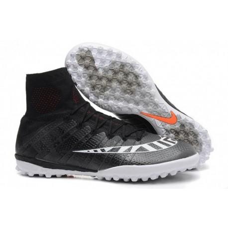 Bottes de football Nike MercurialX Proximo Street TF Noir Blanc Hotlava Anthracite