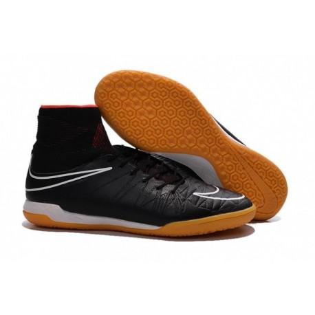 Bottes de football Nike HypervenomX Proximo IC Noir Blanc Orange