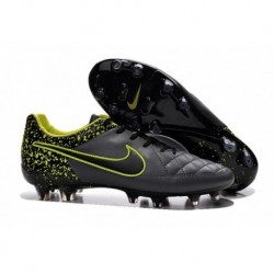 Nike Tiempo Legend FG Bottes de football Anthracite Noir Volt