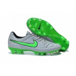 Nike Tiempo Legend V FG Bottes de football Wolf Grey Vert Strike Noir