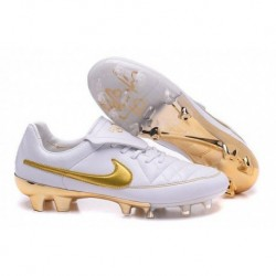 Bottes de football Nike Tiempo R10 FG 2016 Or blanc