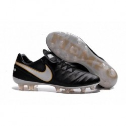 Nike Tiempo Legend VI FG Soccer Cleats Noir Blanc Or