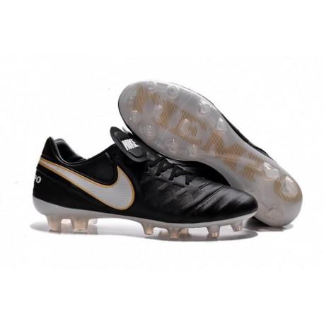 Nike Tiempo Legend VI FG Soccer Cleats Noir Blanc Or
