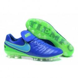 Réduction Nike Tiempo Legend VI FG - Bleu-Vert