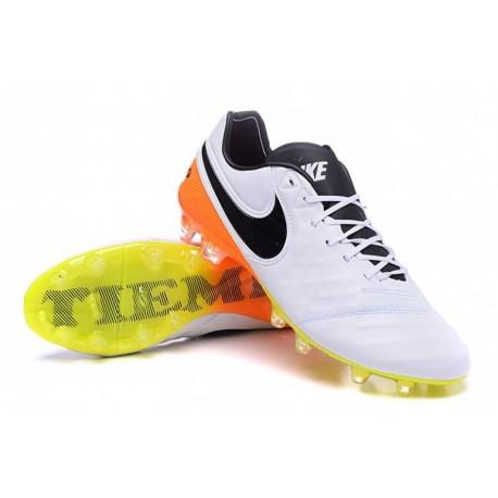 Prix Nike Tiempo Legend VI FG Football Blanc / Noir / Total Orange / Volt