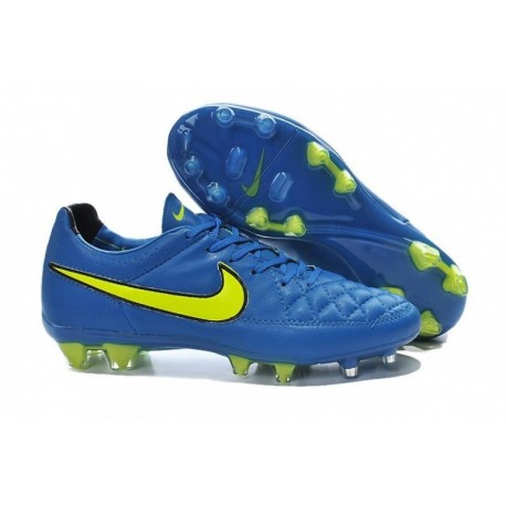 Nike Tiempo Legend V FG Bottes de football Soar Volt Noir