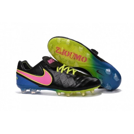 Nike Tiempo Legend VI FG 2016 Soccer Cleats Noir Vert