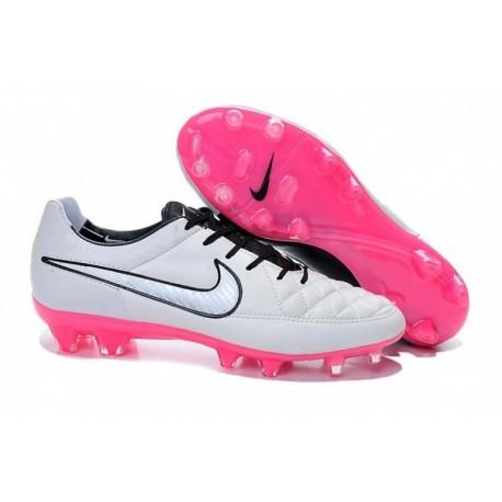 Bottes de football Nike Tiempo Legend V FG Blanc Rose