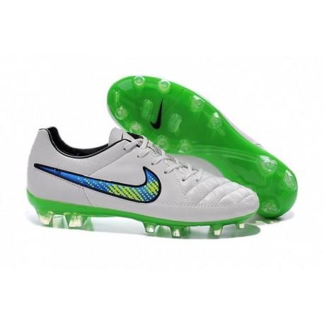 Nike Tiempo Legend V FG Bottes de football Blanc Volt Solar Noir