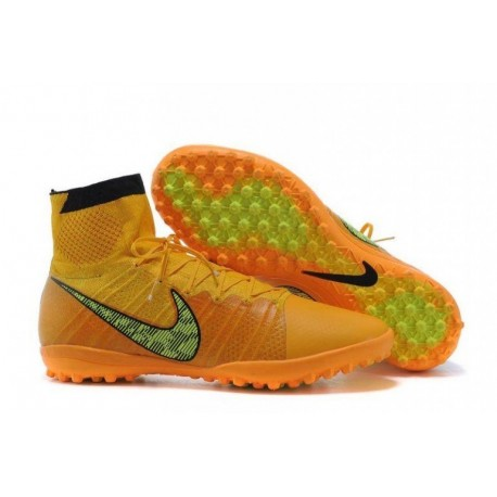 Nike Elastico Superfly TF Bottes de football Laser Orange Noir Tour Jaune Volt