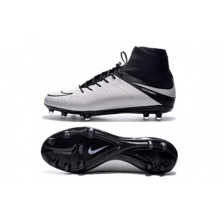 Nike Hypervenom Phantom II Tech Craft (Cuir) FG Cheap Soccer Cleats Light Bone / Noir / Light Bone chez Pas Cher
