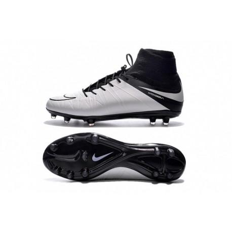 Nike Hypervenom Phantom II Tech Craft (Cuir) FG Cheap Soccer Cleats Light Bone / Noir / Light Bone chez Pas Cher