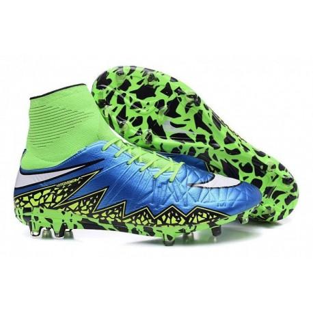 Bottes de football Nike Hypervenom Phantom II FG Bleu Lagoon Blanc Volt Noir