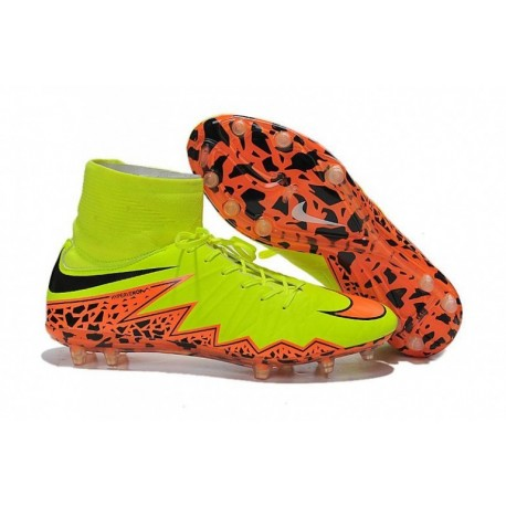 Bottes de football Nike Hypervenom Phantom II FG Orange jaune