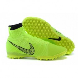 Bottes de football Nike Elastico Superfly TF Volt blanc Noir Flash Lime