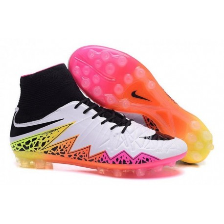 Bottes de football Nike Hypervenom Phantom II AG R Blanc Noir Rose