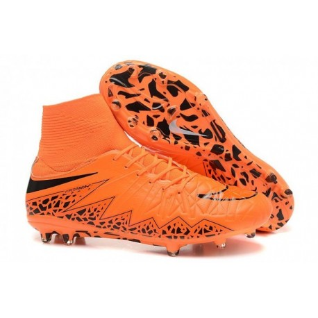 Bottes de football Nike Hypervenom Phantom II FG Orange Noir
