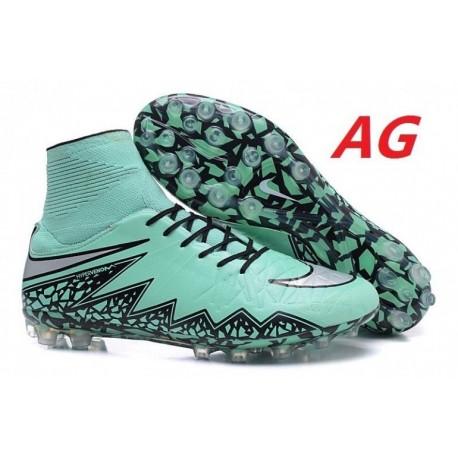 Bottes de football Nike Hypervenom Phantom II AG R Argent vert