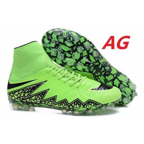 Nike Hypervenom Phantom II AG R Bottes de football Vert Strike Noir Volt