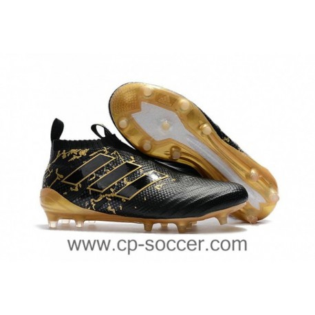 2017 adidas ACE 17+ Purecontrol FG Crampons de football - Pogba Capsule Collection - Core Noir / Or