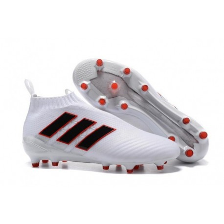 Adidas ACE 17+ Purecontrol FG - Blanc / Noir