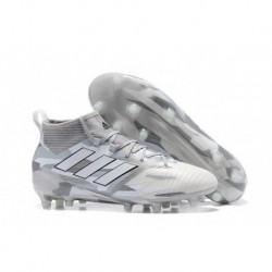 2017 adidas ACE 17.1 Primeknit Camouflage Pack FG Crampons de football - Blanc / Gris