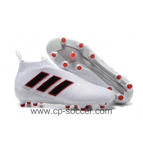 2017 adidas ACE 17+ Purecontrol FG Crampons de football - Blanc / Noir